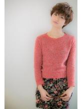 【Euphoria】☆ルーズパーマ☆すっきりシルエットのショート♪ 前髪パーマ.57