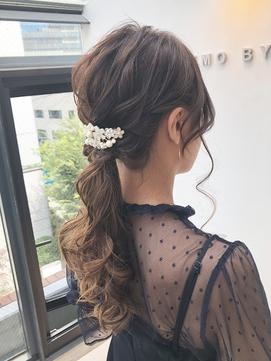 【 LEMO 】《高橋舞》 ヘアアレンジ ポニーテール 結婚式