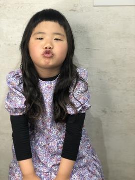 キッズカット☆超ON眉前髪ウエーブスタイル☆