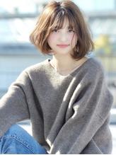 大人かわいいフレンチボブ_毛先パーマ_ベージュカラー【FONS】.57