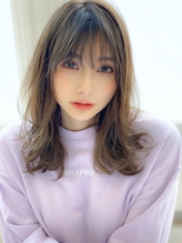 《Agu hair》色っぽふんわりグレージュミディ.29