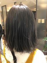 【neolivenico大井町店】 ダークグレージュ 切りっぱなしボブ.59