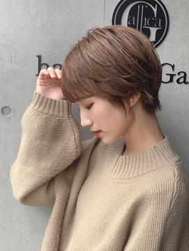 【東 純平】大人かわいい 小顔 丸みショート