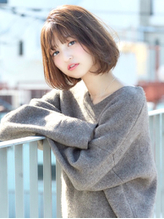 大人かわいいフレンチボブ_ベージュカラー_毛先パーマ【FONS】.58