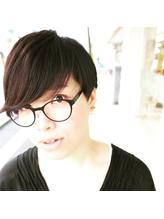メガネ+黒髪マッシュ=オシャレ♪.23