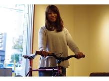 店内に私物の自転車飾ってます。すいません^^;