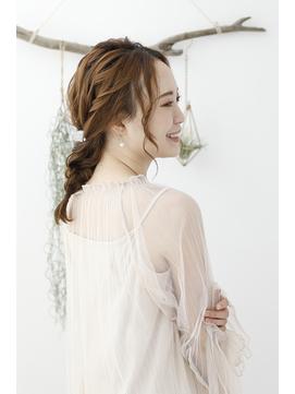 結婚式/ゆるふわ編みおろし/花嫁/お呼ばれ/可愛い