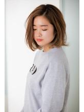 ふわカールロブ×ミルクティーカラー モテ髪.60