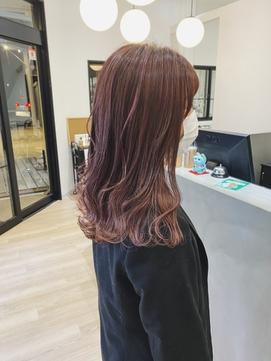艶髪×レッドブラウン×グラデーションカラー