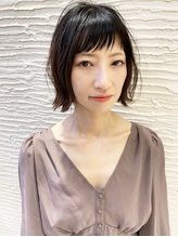【morio札幌】2020年札幌髪型 大人かわいい黒髪外ハネボブ.30