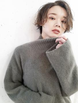 【SeeK NEXT 門井】大人ショート×カーキベージュ