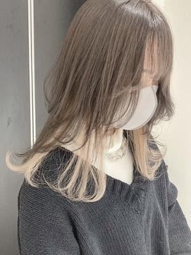 Y.Y02_ミルクブラウンインナーカラーホワイト/デザインカラー