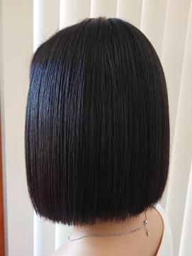 サラサラ艶ストレート 縮毛矯正 黒髪ボブ