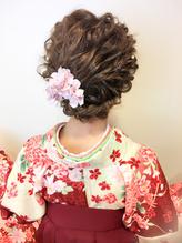 卒業式 波ウェーブの袴アレンジ 成人式.39
