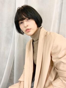 ◆黒髪/艶カラー/シースルーバング/Aラインボブ/たまプラーザz1