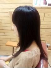 髪の広がり、パサつきが気になる方に☆【コスメストレート+CUT+トリートメント¥6000】傷まず収まる髪に♪