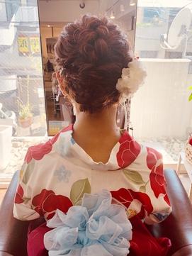 宝塚駅前 大人かわいい着物浴衣にぴったり小顔ヘアアレンジ