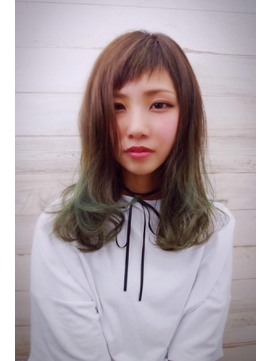 ☆NUDE COLOR☆スポンテニアス アシメバング グラデーション