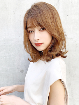 小顔カット★セミウェットウェーブエアリーミディデジタルパーマ