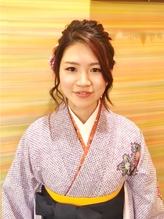 【着物・袴に♪】花をあしらった大人アップセット×袴スタイル 卒業式,着物.35