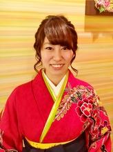 【着物・袴に♪】花をあしらったモテかわアレンジ×袴スタイル 卒業式,着物.36