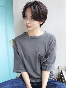 天神【BIRTH】前髪センターパート×イメチェンショート