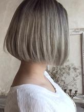 White gray【バレイヤージュ】、.36