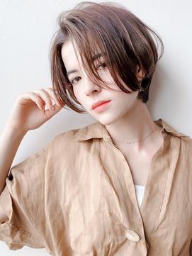 流し前髪で程よい女っぽさをプラス/イメチェン/梅田&茶屋町&堂島