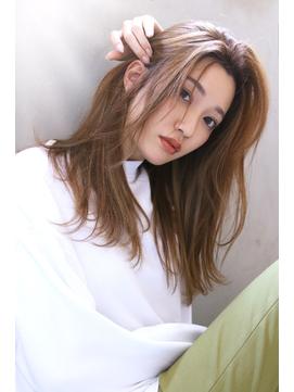 【Blanc/天王寺】ショコラベージュ_かき上げ_大人ガーリー