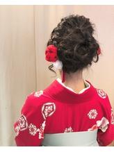 【下北沢*I'll b hair*】卒業式の着物に似合う編み込みアップ.53