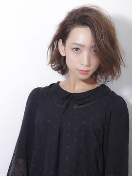 【un le pont西梅田】大人女性のワンサイドボブ×セミウエット