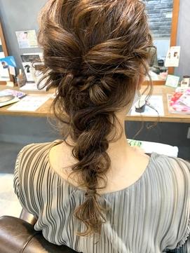 結婚式☆編みおろしヘアアレンジ