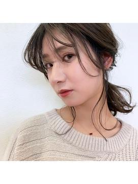 【carlm☆上川美幸】セミロング×編みおろし