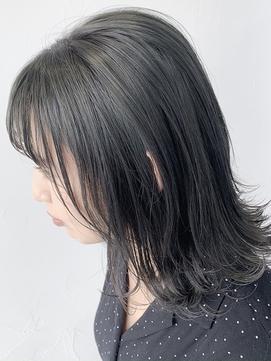 ツヤ感オリーブアッシュカラー◎イルミナカラー◎白髪染め