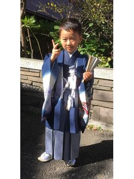 五歳 七五三袴 着付け