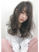 ひし形シルエットグレージュエアリーカール.35