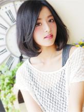 【ジュレベール 杉下 】 黒髪カジュアルな大人女子ふわミディ 清楚.55