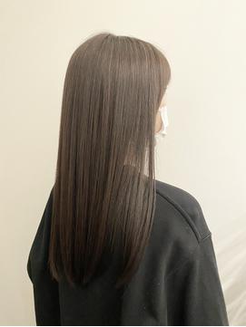 ミディアム/ロング/髪質改善/暗髪/カラー/透明感/うる艶