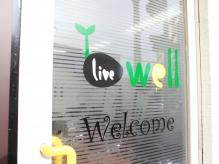 """""""live well""""へようこそ♪"""