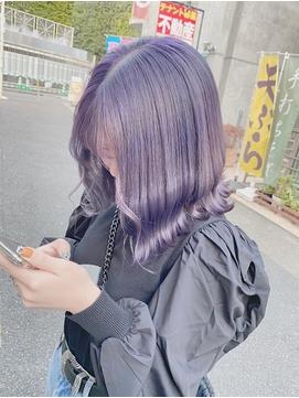 ネイビー×ウルフ/インナーカラー/原宿