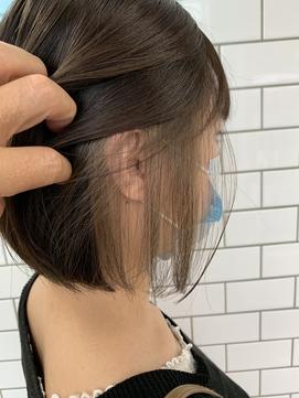 [HAIR C]チラッと可愛いインナーカラーボブ