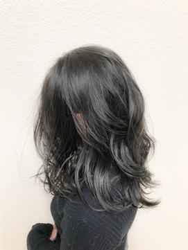 大人かわいい 黒髪 UP