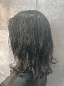 外国人風カラー 3Dハイライト×黒髪