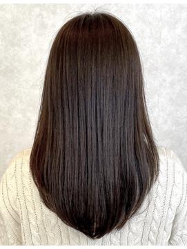 ダークブラウンストレート♪縮毛矯正 髪質改善トリートメント