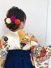 【卒業式】袴着付け☆ヘアセット☆メイク  ¥14040 卒業式.16