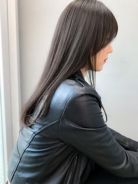 nude仲井【ブリーチなし】【スモークアッシュグレー】