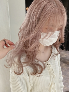 Y.Y52_ホワイトピンクベージュ/ハイトーン/Wカラー/ピンクカラー