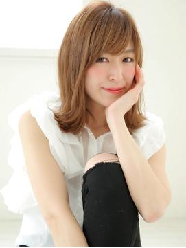 エフォートレス☆お仕事斜めバンク美人ロング☆クリアアッシュ