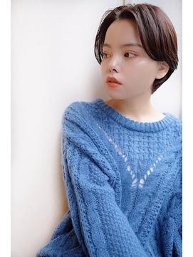 【SHIRO.柏】柔らかい質感の短めセンターパートショート