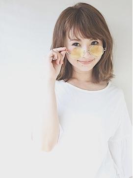 ハイ透明感カラー☆オリーブグレージュ☆メガネ女子編1(久米川)